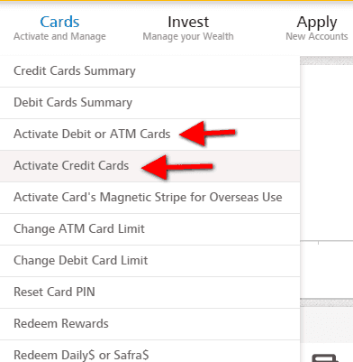 Activate POSB Credit Card