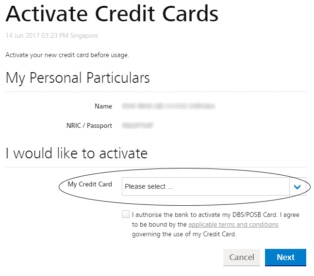 How to Activate POSB Card