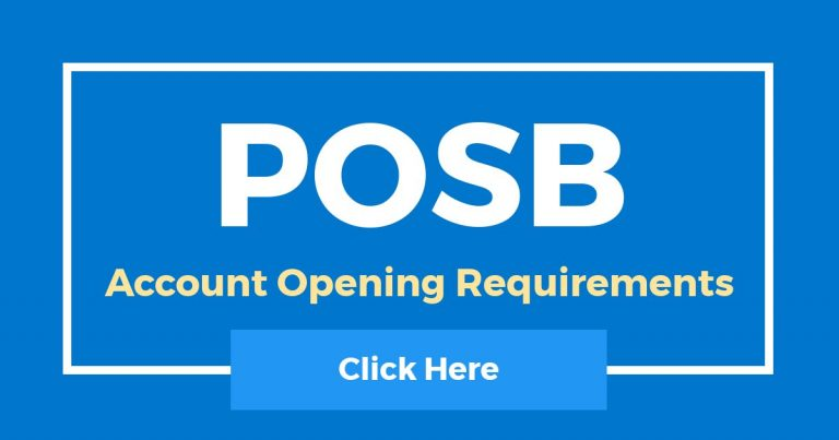 POSB Account Opening Requirements