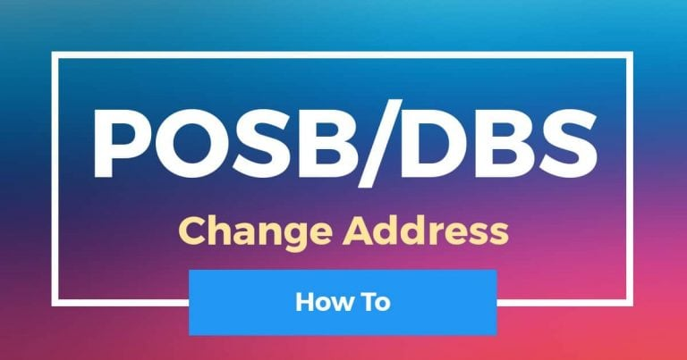 How To Change Address In POSB/DBS