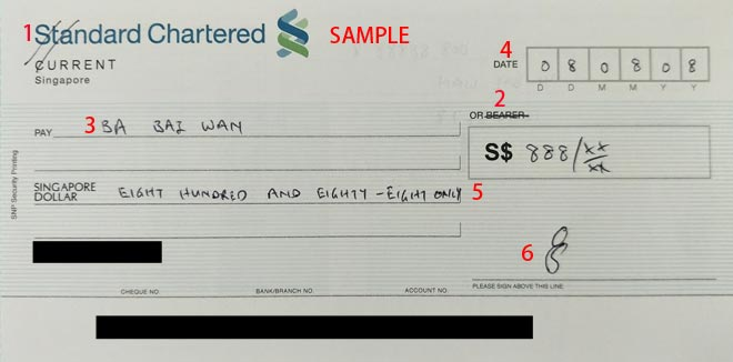 How To Write a Cheque Singapore