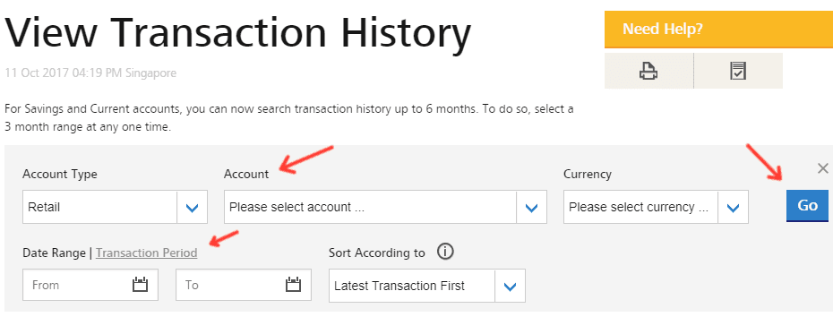 Check POSB Transaction History