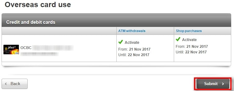 How To Activate OCBC Card For Overseas Use 5