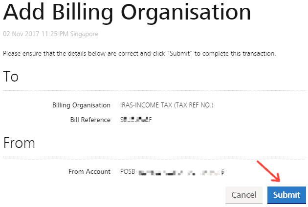 Verify Billing Organisation (IRAS) details