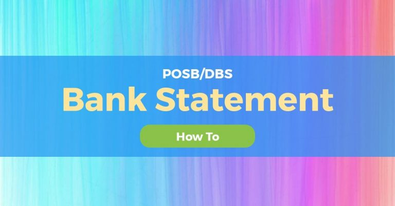 How To Request Bank Statement From POSB/DBS