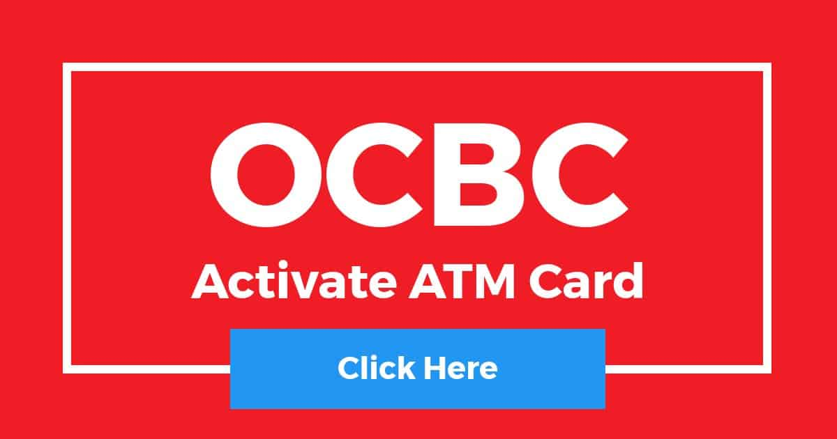 How To Activate OCBC ATM Card 5