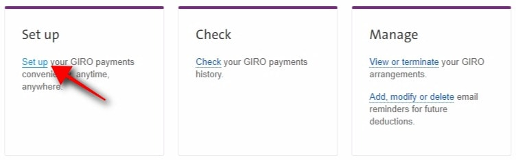 Set Up Your GIRO Payments
