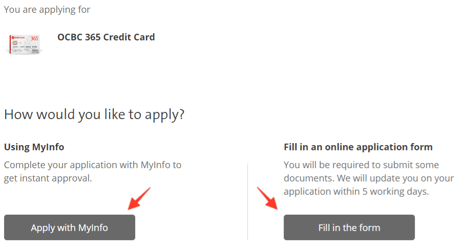How To Apply For OCBC Credit Card 2
