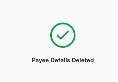 Payee Details Deleted