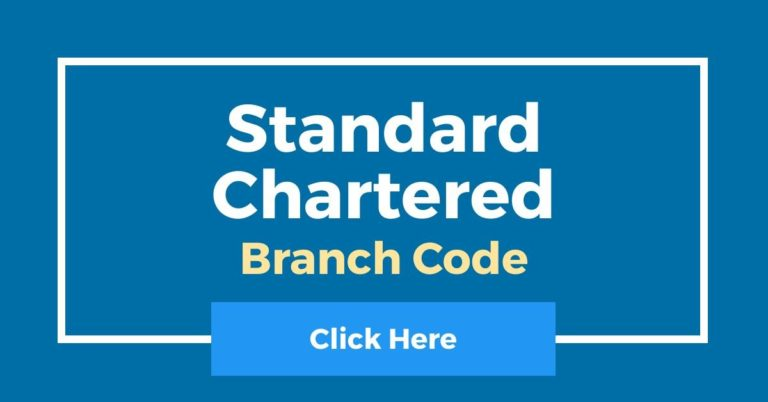 How To Check Standard Chartered Branch Code