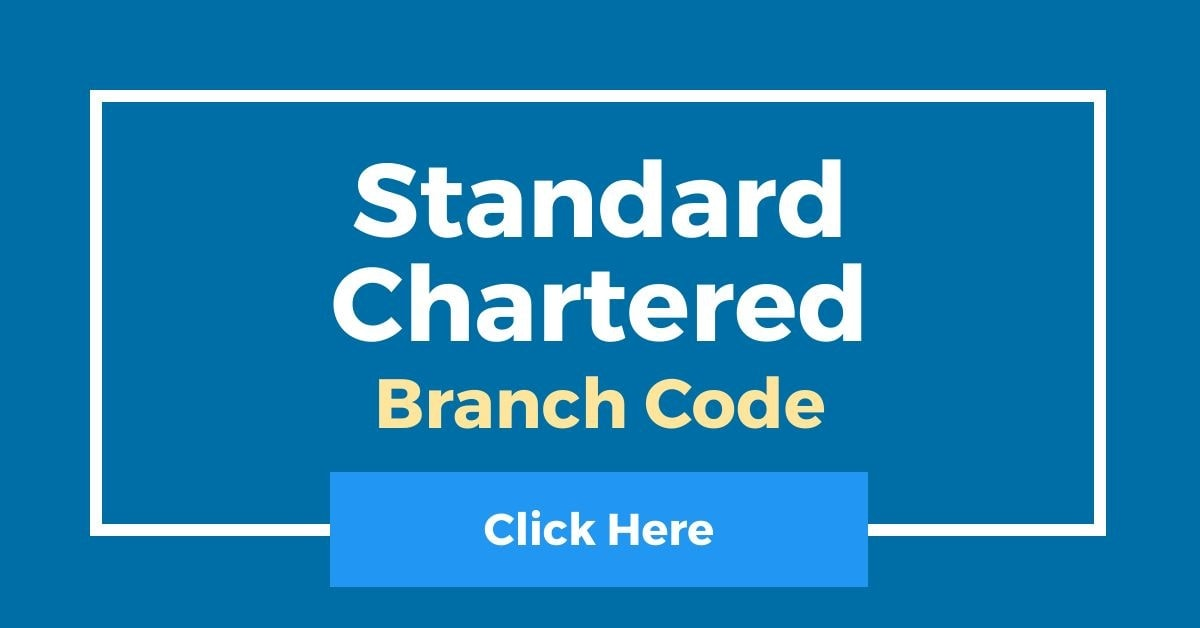 Standard Chartered Branch Code