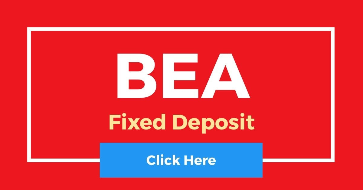 Bank of East Asia Fixed Deposit