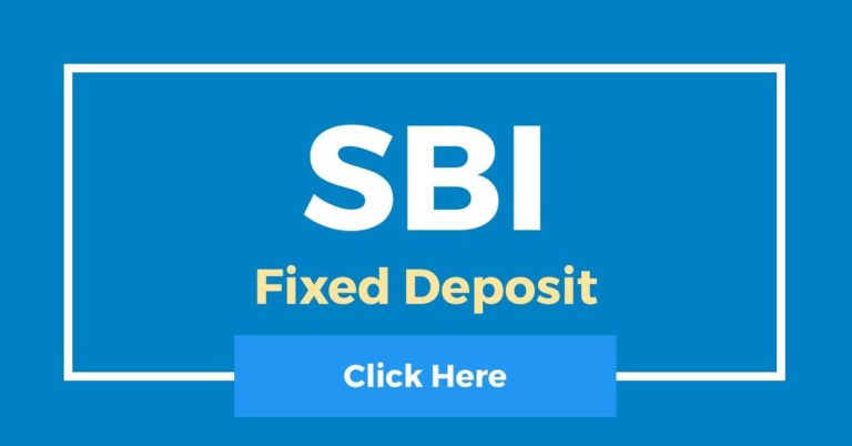 State Bank Of India Fixed Deposit (SBI FD)