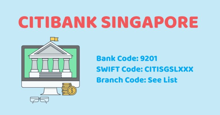 Citibank SG Branch Code/Bank Code/Swift Code